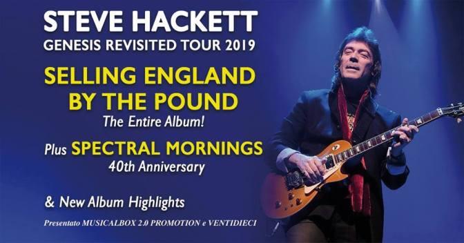 """29 aprile 2019 """"STEVE HACKETT – Genesis Revisited Tour 2019"""" al Teatro Brancaccio"""