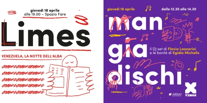"""18 aprile 2019 """"Mangiadischi"""" e presentazione del nuovo numero di """"Limes"""" al Mercato Centrale"""