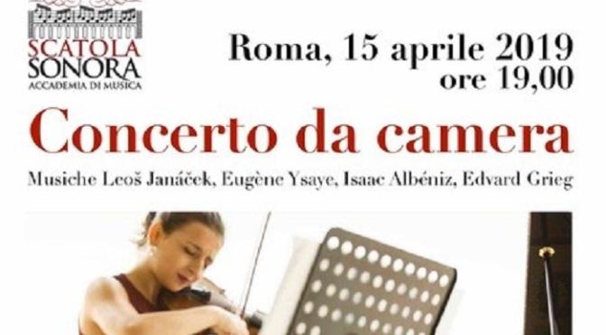 """15 aprile 2019 """" Concerto da camera """" presso Scatola Sonora"""
