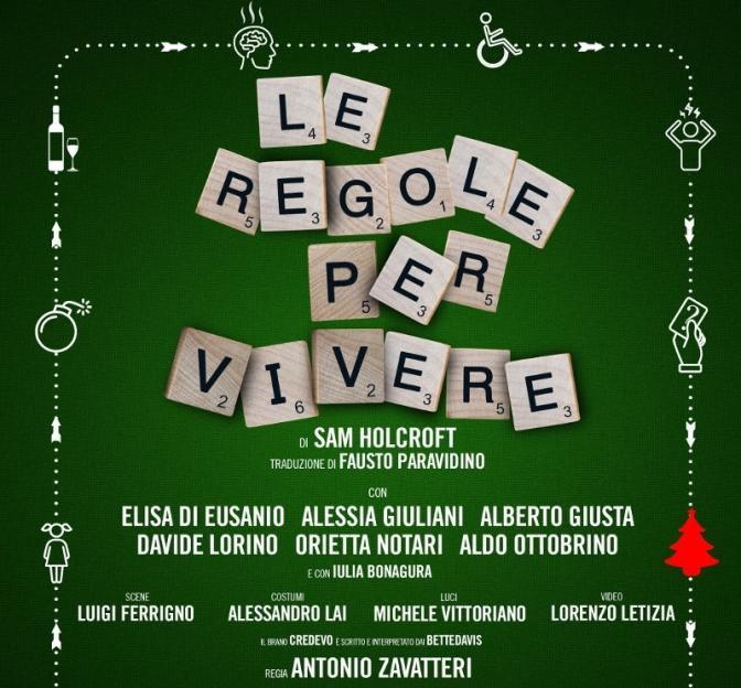 """8 – 19 maggio 2019 """"Le regole per vivere"""" al Teatro Jovinelli"""