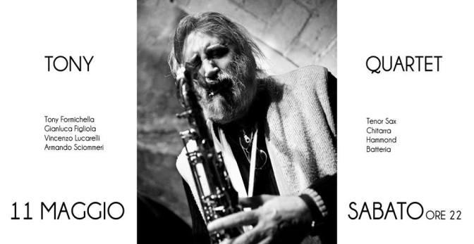 """11 maggio 2019 """"Tony Formichella Quartet – Original Italian Jazz"""" al Gatsby Cafè"""