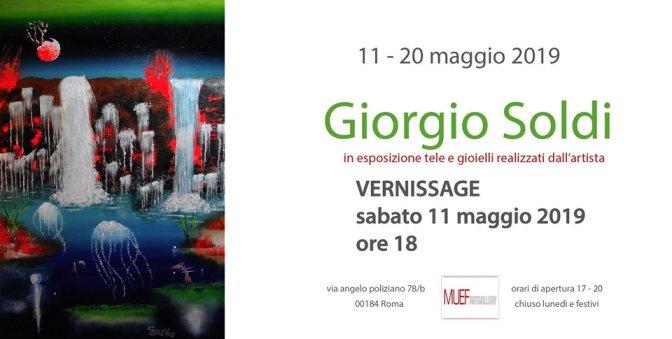 """11 – 20 maggio 2019 Mostra personale di pittura """"Giorgio Soldi"""" al MUEF ArtGallery"""