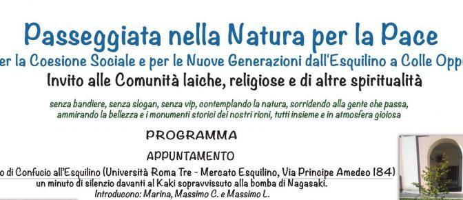 """12 maggio 2019 """"Passeggiata della Natura per la Pace"""" per le vie del Rione Esquilino"""