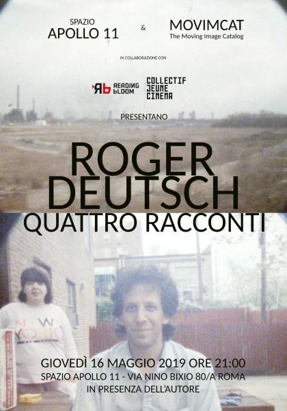 """16 maggio 2019 """"ROGER DEUTSCH: QUATTRO RACCONTI"""" all'Apollo 11"""