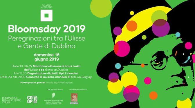 "16 giugno 2019 ""Bloomsday 2019"" al Palazzo Merulana"