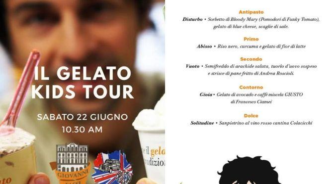 """22 giugno 2019 Due appuntamenti al Palazzo del Freddo """"Il gelato kids tour"""" e la cena """"La metà oscura"""""""