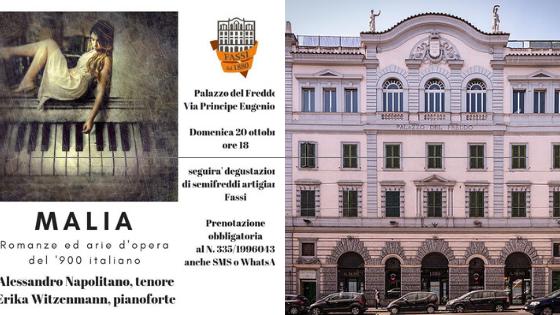 """20 ottobre 2019 """"Malia"""" al Palazzo del Freddo – Fassi"""