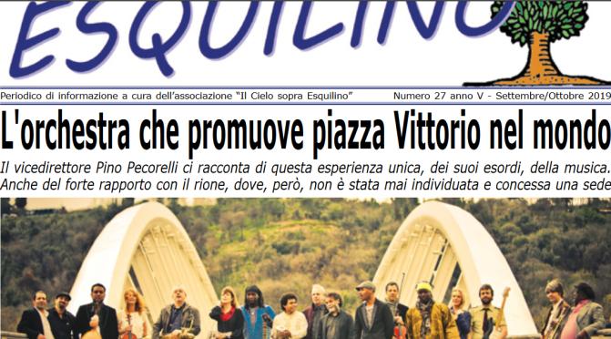 """E' uscito """"Il Cielo sopra Esquilino"""" numero 27 – settembre/ottobre 2019"""
