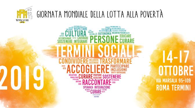 "14 – 17 ottobre 2019 ""Termini Sociali"""