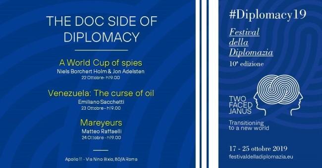"""22 – 24 ottobre 2019 """"Diplomacy 2019 – Festival della Diplomazia"""" all'Apollo 11"""
