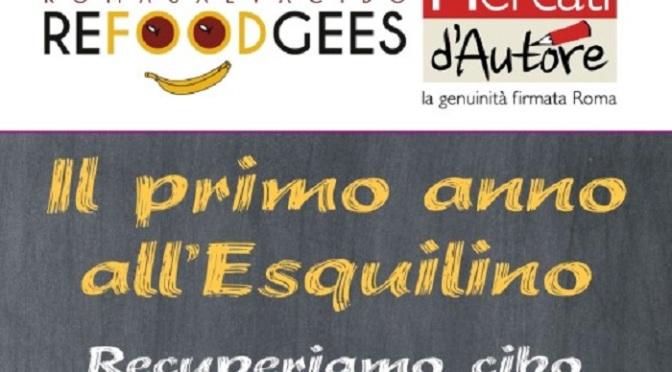 """12 ottobre 2019 """"Primo anno all'Esquilino – Recuperiamo cibo coltiviamo umanità"""" al Nuovo Mercato Esquilino"""