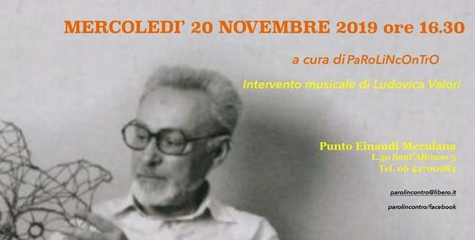 """20 novembre 2019 """"Omaggio a Primo Levi"""" presso il Punto Einaudi Merulana"""