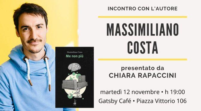 """12 novembre 2019 Presentazione del libro """"Me non più"""" al Gatsby Cafè"""