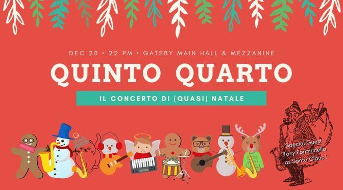 "20 dicembre 2019 ""Jazz by Gatsby – Quinto Quarto Xmas Edition"" al Gatsby Cafè"