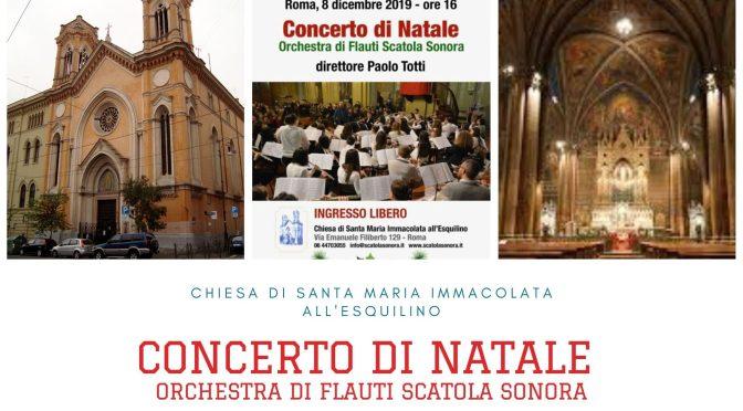 """8 dicembre 2019 """"Concerto di Natale"""" presso la Chiesa di Santa Maria Immacolata all'Esquilino"""