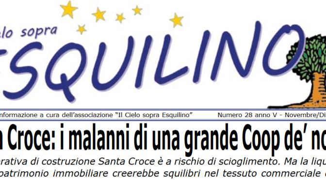 """E' uscito """"Il Cielo sopra Esquilino"""" numero 28 – novembre/dicembre 2019"""