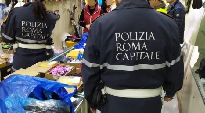 20 dicembre 2019 Blitz della Polizia Locale nei negozi dell'Esquilino