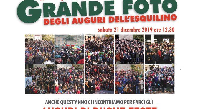 21 dicembre 2019 11° Edizione della Grande foto degli auguri dell'Esquilino a Piazza Vittorio