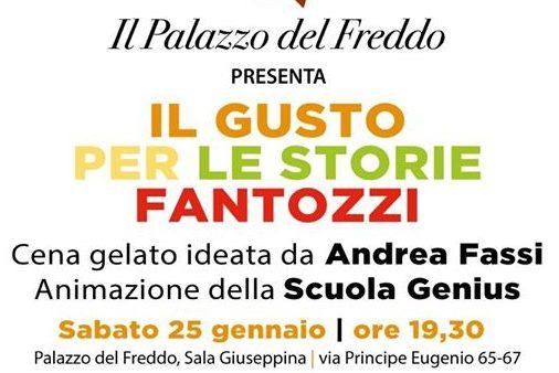 """25 gennaio 2020 """"Il gusto per le storie – Fantozzi"""" Cena gelato al Palazzo del Freddo – Fassi"""