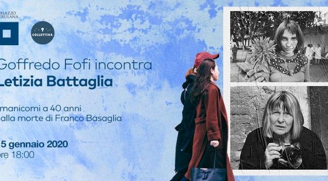 """15 gennaio 2020 """"Goffredo Fofi incontra Letizia Battaglia"""" al Palazzo Merulana"""