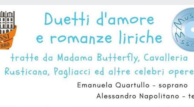 """7 febbraio 2020 """"Duetti D'Amore e Romanze Liriche"""" al Palazzo del Freddo – Fassi"""