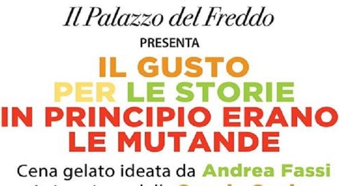 """22 gennaio 2020 Cena Gelato """"In principio erano le mutande"""" al Palazzo del Freddo Fassi"""