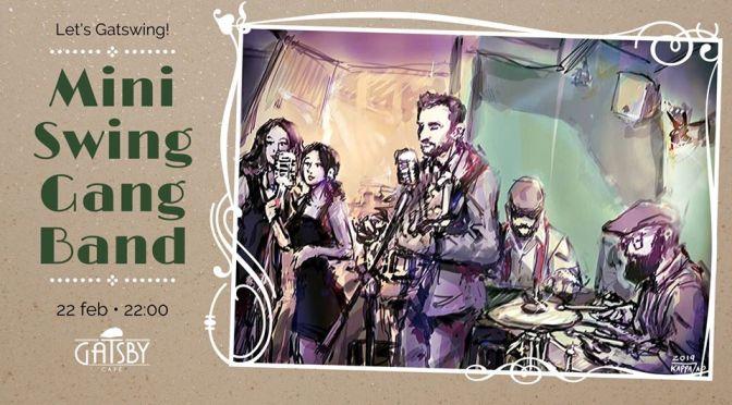 """22 febbraio 2020 """"Let's GatSwing! – Mini Swing Gang Band"""" al Gatsby Cafè"""