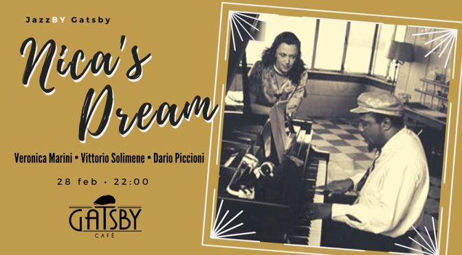 """28 febbraio 2020 """"Jazz by Gatsby: Nica's Dream – Veronica Marini Trio"""" al Gatby Cafè"""