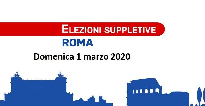 1 marzo 2020 Elezioni suppletive per la Camera dei Deputati nel Centro Storico di Roma