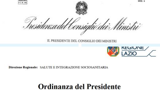 Il decreto del Presidente del Consiglio dei Ministri dell'8 marzo 2020, l'Ordinanza del Presidente della Regione Lazio dell'8 marzo 2020 e quella del 9 marzo 2020
