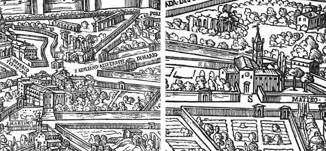 Immagini del 1625: due chiese all'Esquilino che non esistono più