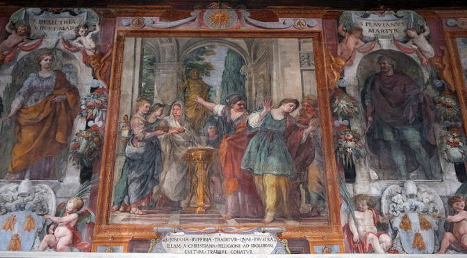 Video sulla chiesa di Santa Bibiana: la storia #2