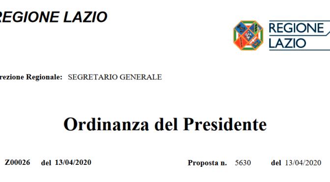 Le librerie nel Lazio riapriranno il 20/04/2020: Ordinanza del Presidente della Regione Lazio n. Z00026 del 13/04/20
