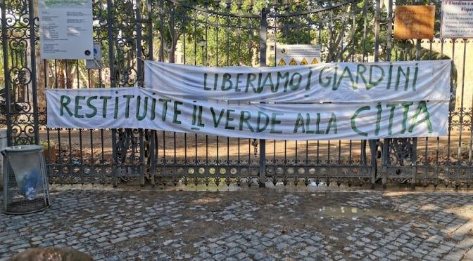 Piazza Vittorio:  Incontro pubblico del Comitato Piazza Vittorio Partecipata  per liberare i giardini della piazza