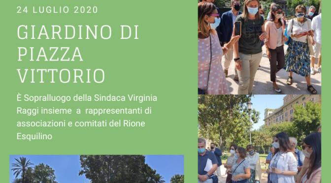 Il punto sui lavori del giardino di Piazza Vittorio