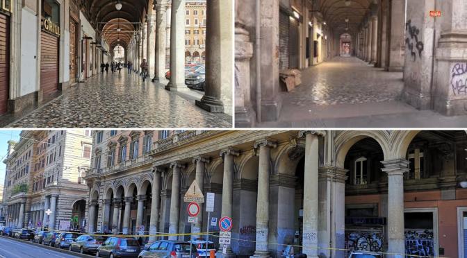 Gli studi preparatori per il progetto di restauro dei pavimenti dei portici di Piazza vittorio
