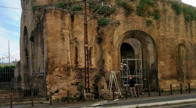 Ripresi i lavori per il miglioramento della recinzione del cd. Tempio di Minerva Medica