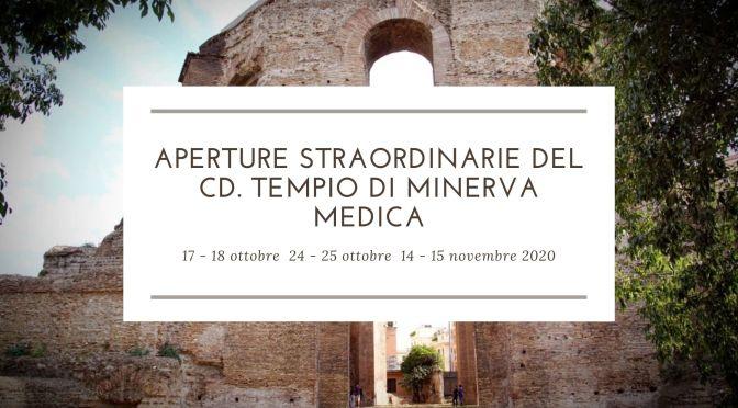 Aperture straordinarie del cd Tempio di minerva Medica