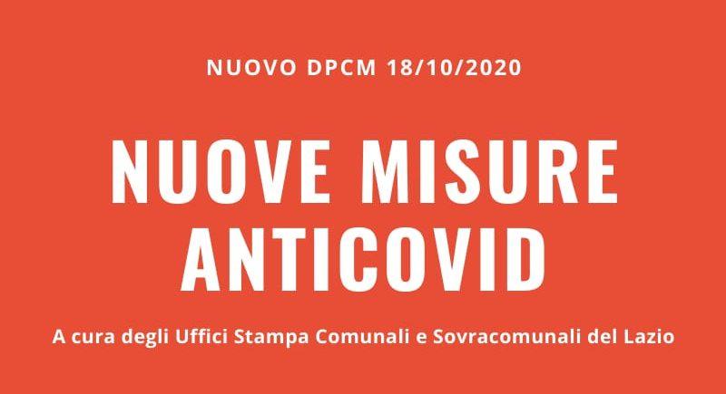 IL nuovo DCPM del 18 ottobre 2020