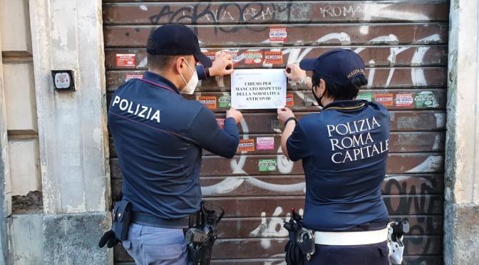 Polizia Locale chiude parrucchiere  all'Esquilino, non rispettava misure anti-contagio