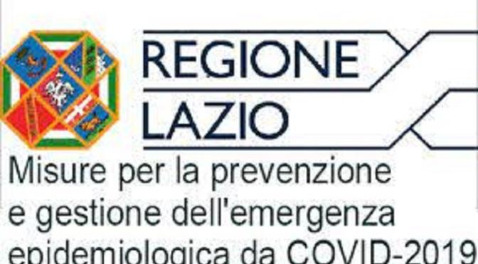 La nuova ordinanza della Regione Lazio con il nuovo modello di autocertificazione