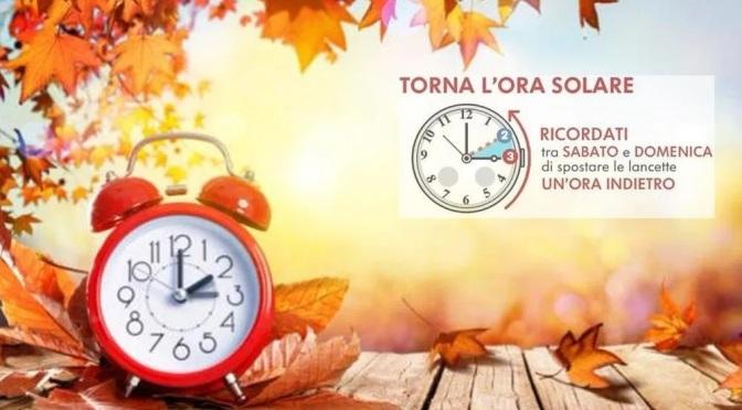 La notte tra il 24 e il 25 ottobre 2020 torna l'ora solare