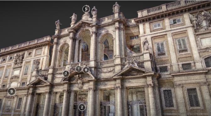 Il prospetto della Basilica di Santa Maria Maggiore in 3D