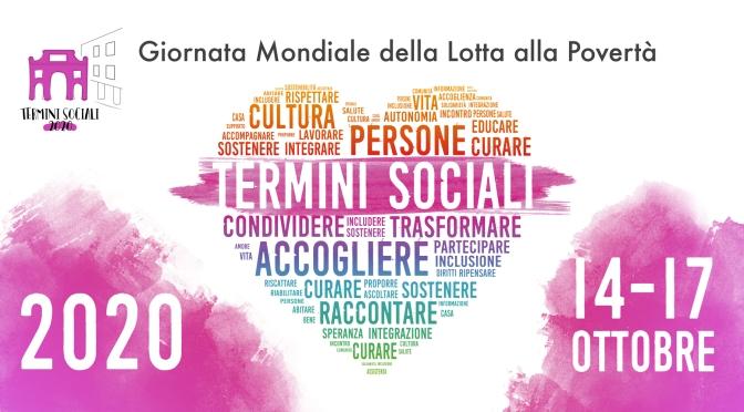 "14 – 17 ottobre 2020 ""Termini Sociali 2020"""
