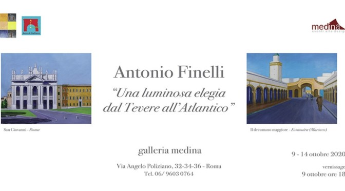 "9 – 15 ottobre 2020 ""Una luminosa elegia dal Tevere all'Atlantico"" mostra d'arte allo Studio Medina"