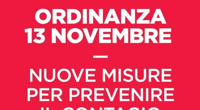 Regione Lazio: nuova ordinanza del 13 novembre 2020