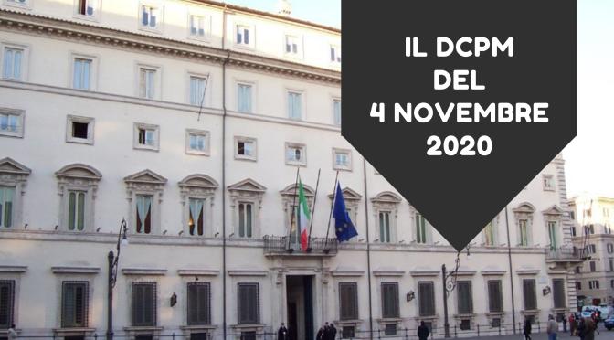 Il DCPM del 4 novembre 2020: l'infografica e il rischio covid regione per regione