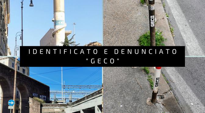 """""""Geco"""", denunciato noto writer da parte della Polizia Locale di Roma"""