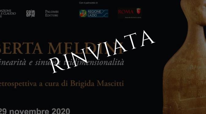 """Palazzo Merulana: on line alcune opere della mostra  """"Roberta Meldini"""" rinviata a causa delle norme anti covid-19"""