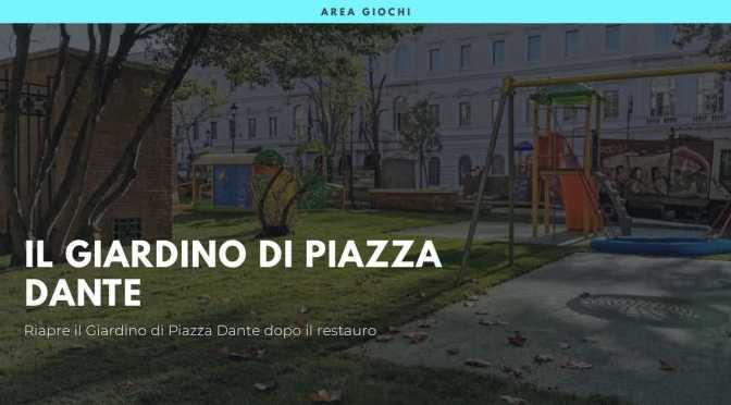 Piazza Dante: una sbirciatina tra le inferriate prima della riapertura ufficiale